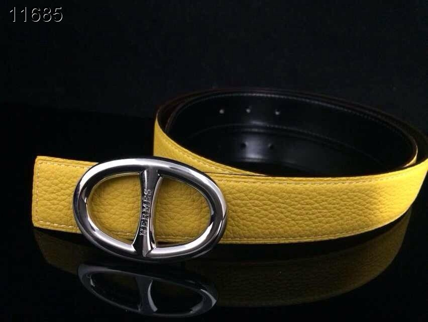 Hermes Belt Yellow with Silver H Buckle Womens Clearance Sale